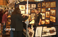 Steven selling dog prints at Crufts